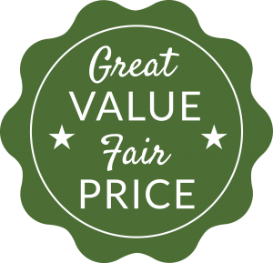 great value_fair price_retro graphic button