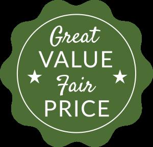 great value_fair price_retro graphic button